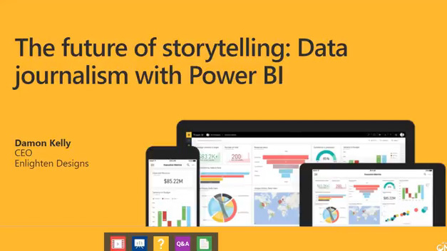 The future of storytelling: Data journalism with Power Bi.