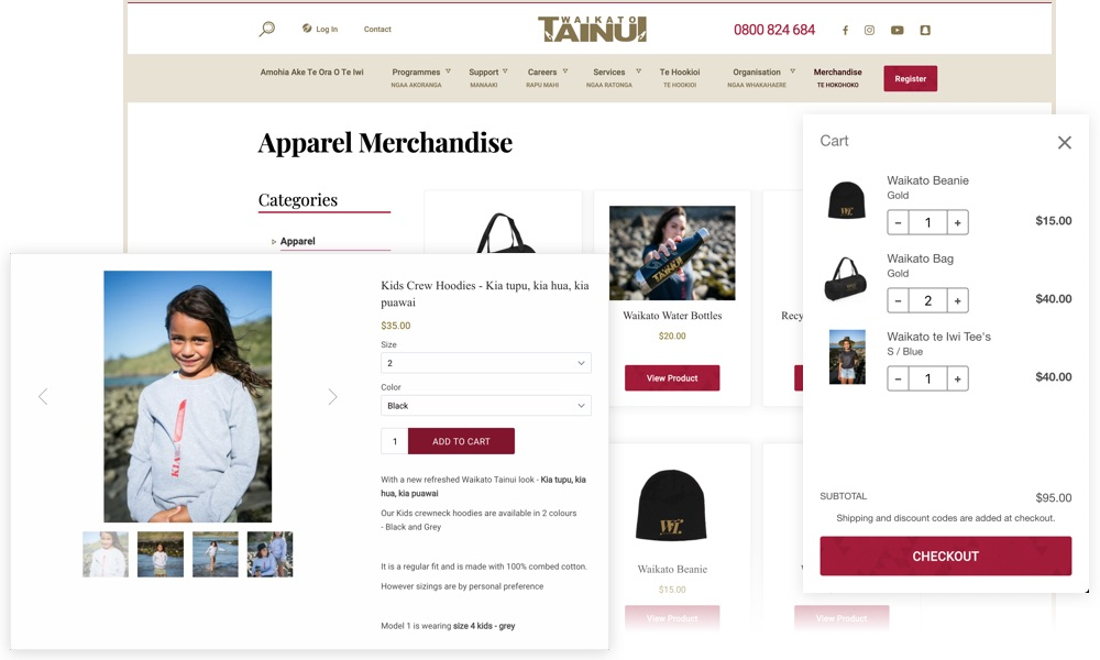 Waikato Tainui E-commerce solution